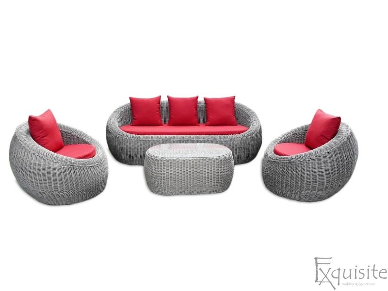 Set canapea din ratan artificial 3