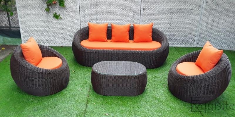 Set canapea din ratan artificial 6