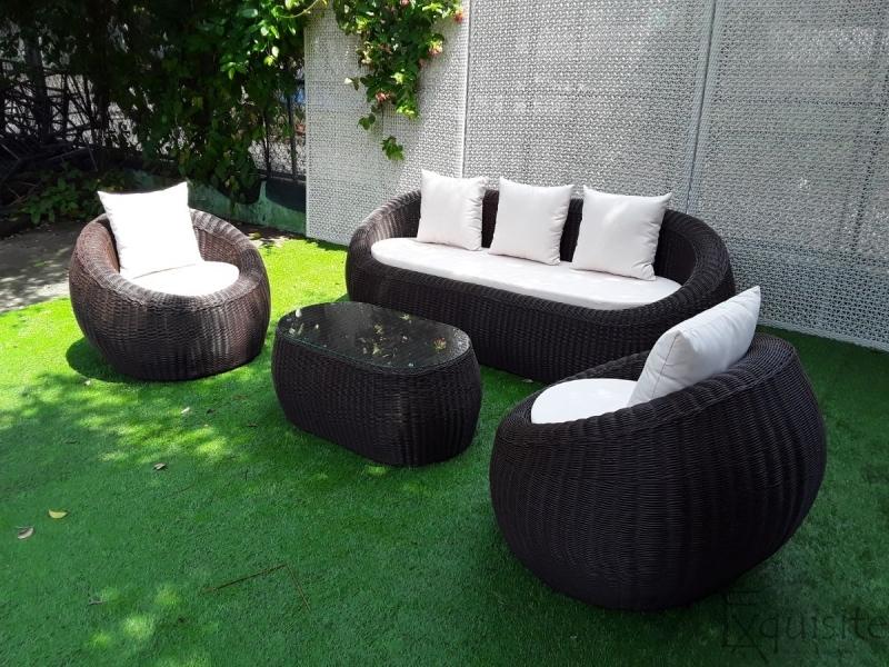 Set canapea din ratan artificial 2