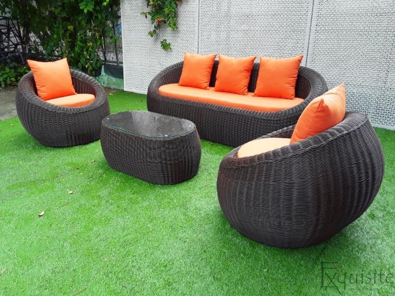 Set canapea din ratan artificial 5