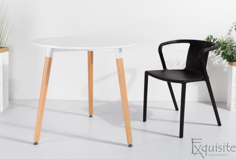 Masa pentru bucatarie din MDF alb4