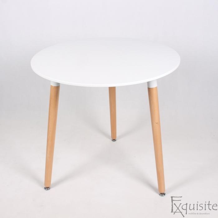 Masa de bucatarie Exquisite, rotunda, MDF alb1