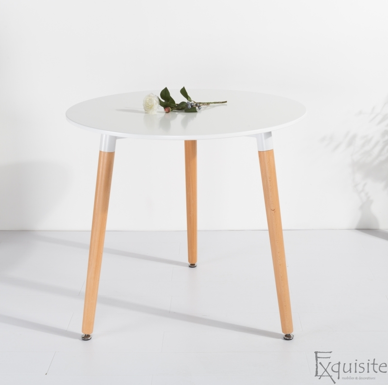 Masa pentru bucatarie din MDF alb1