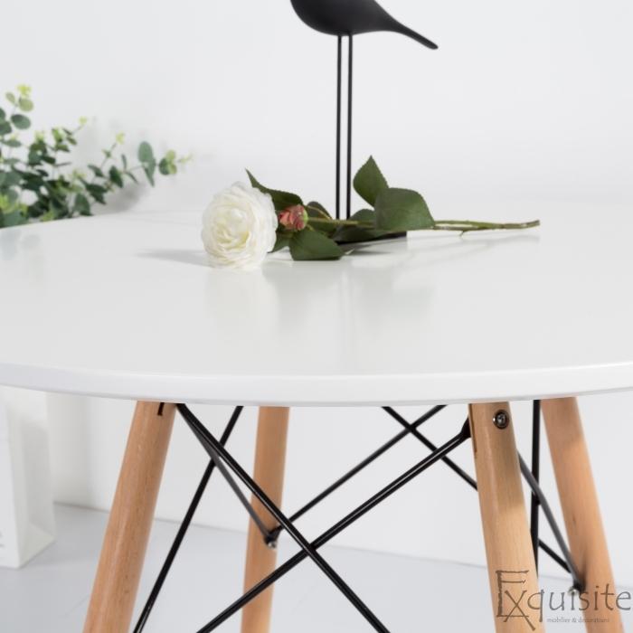 Masa rotunda din MDF 100cm cu 4 scaune pentru bucatarie4