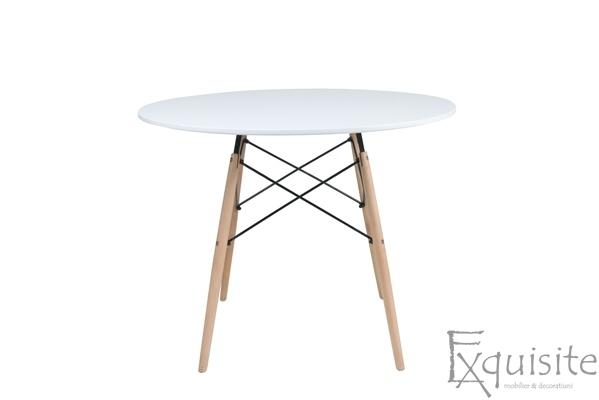 Masa rotunda din MDF cu 4 scaune pentru bucatarie / living2