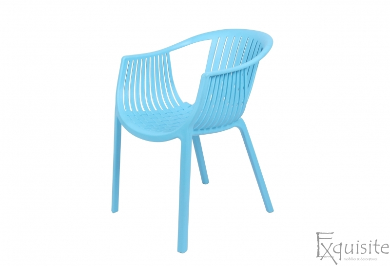 Masa rotunda din MDF 80 x 73cm cu 4 scaune tip Luigi6