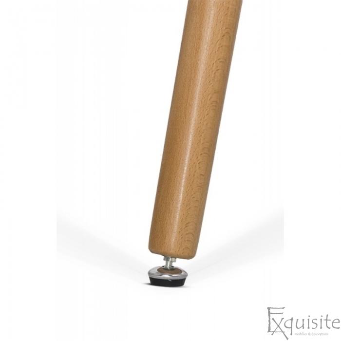 Masa rotunda din MDF cu picioare din lemn, diametru 80cm, blat alb4