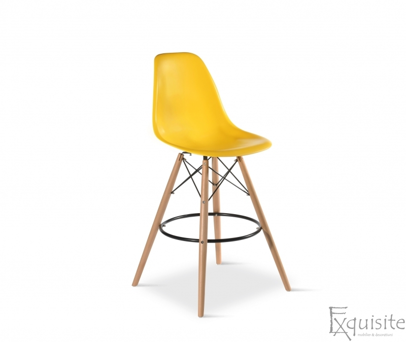 Scaun de bar Exquisite, design Eames, 9 culori disponibil1