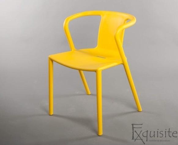 Scaun cu brate din plastic pentru terasa, Set 4 scaune 6