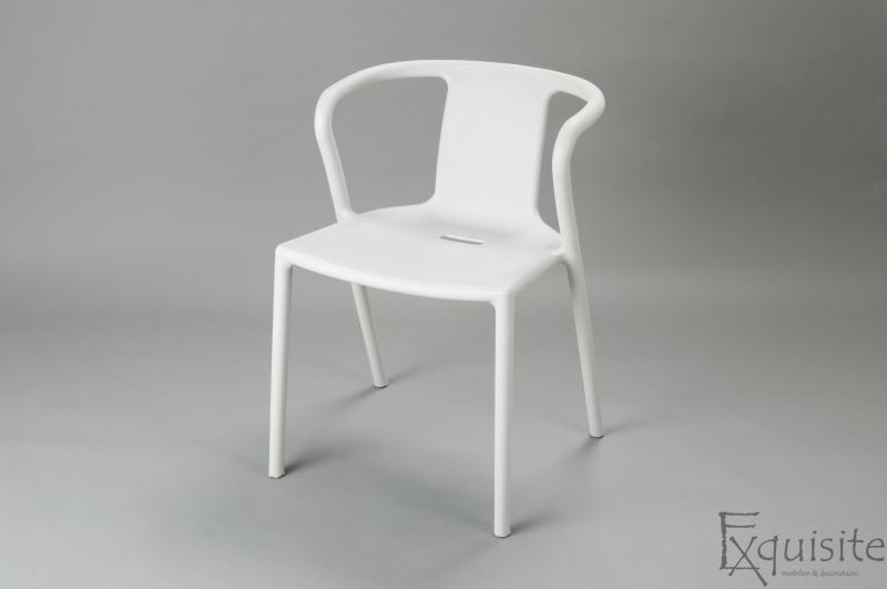 Scaun cu brate din plastic pentru terasa, Set 4 scaune 4