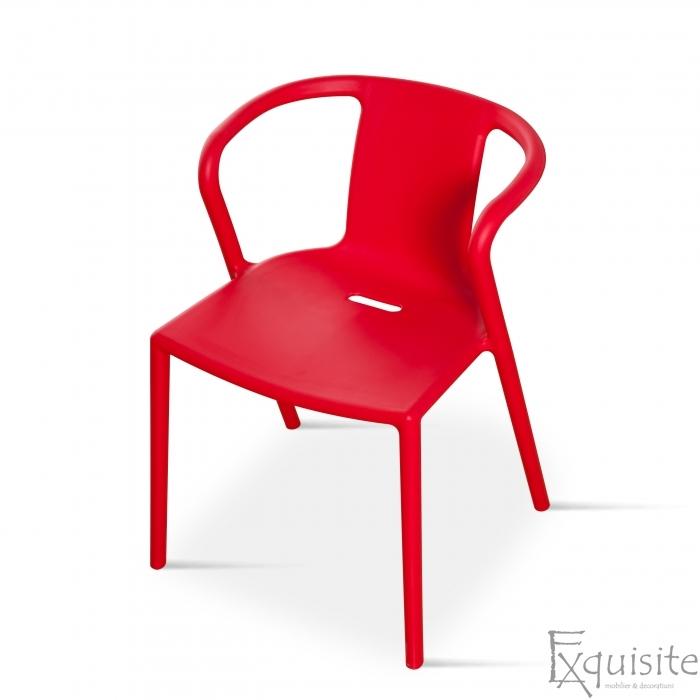 Scaun cu brate din plastic pentru terasa, Set 4 scaune 1