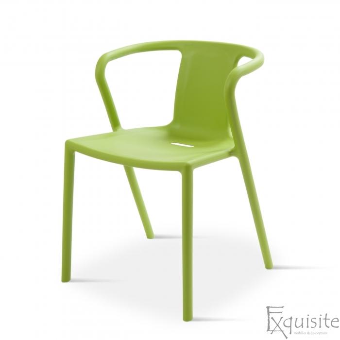 Scaun cu brate din plastic pentru terasa, Set 4 scaune 2