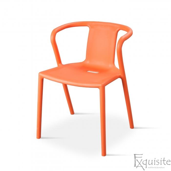Scaun cu brate din plastic pentru terasa, Set 4 scaune 3