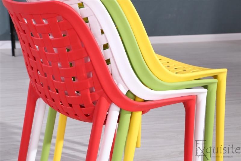 Scaun de bucatarie din plastic, Exquisite, rosu. galben, alb6