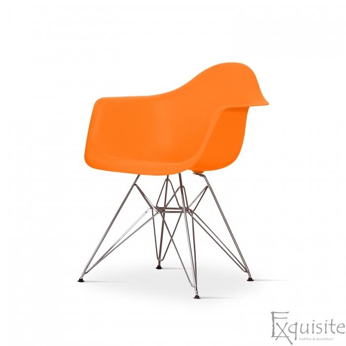 Scaun de bucatarie cu picioare cromate, set 4 bucati, diverse culori, EX082M6