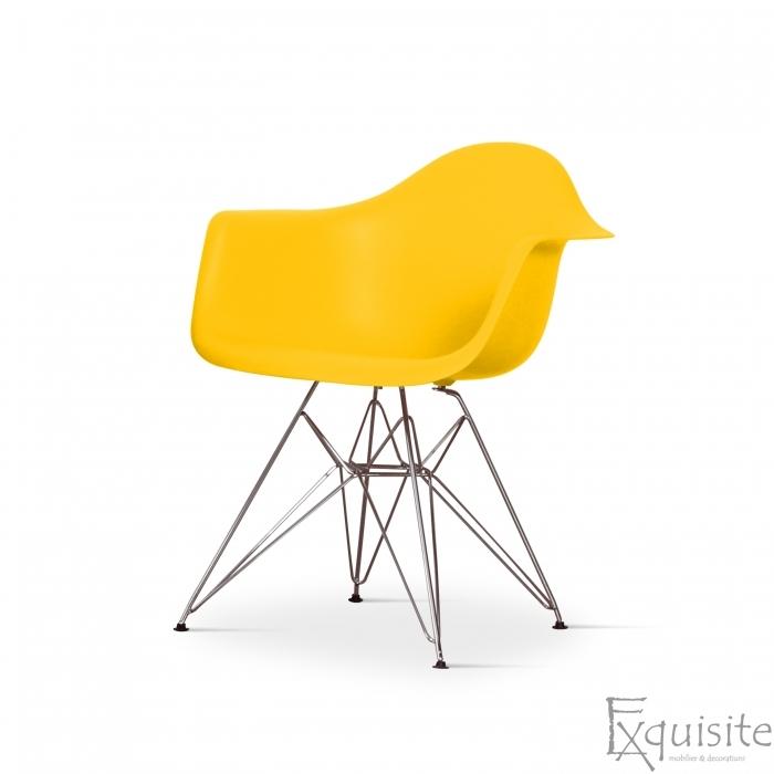 Scaun de bucatarie cu picioare cromate, set 4 bucati, diverse culori, EX082M1