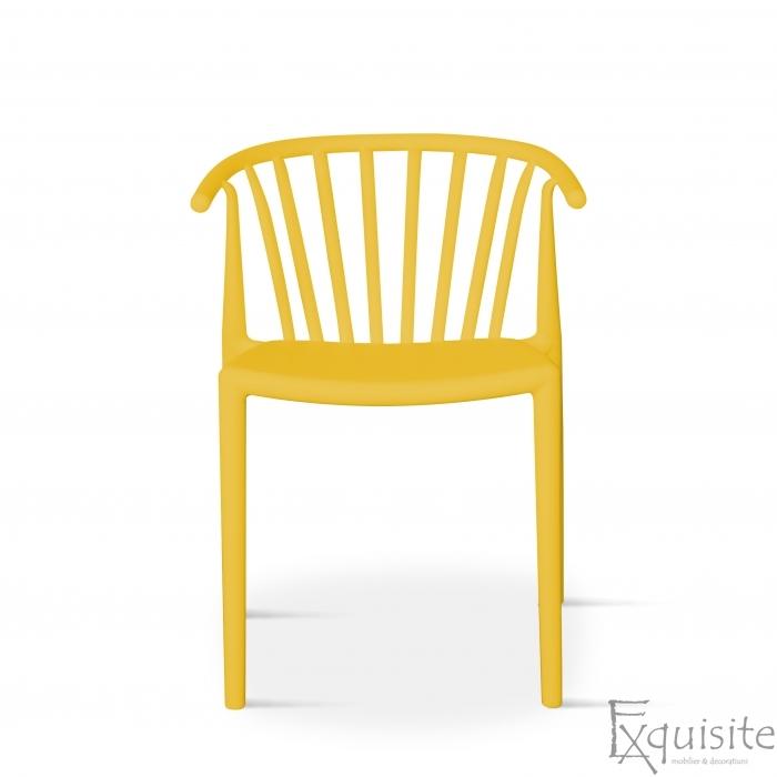 Scaun galben pentru terasa, rezistent, Countryside, EX0962
