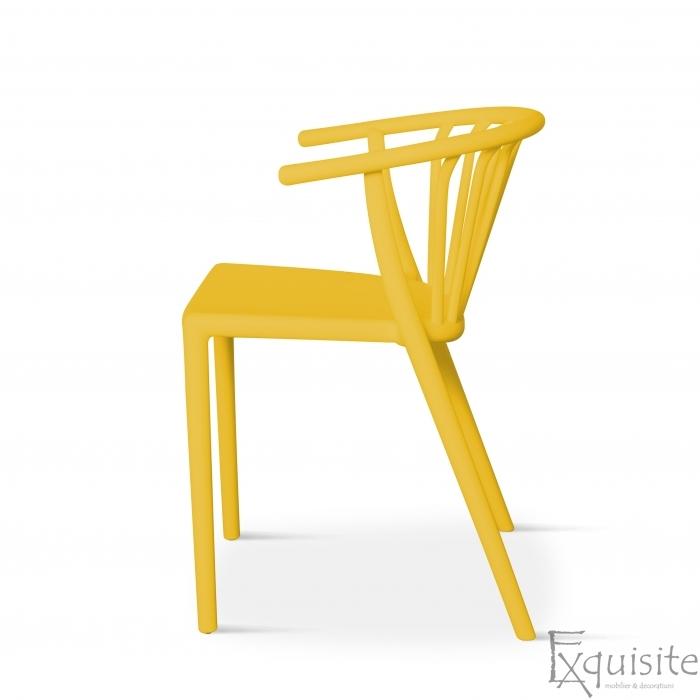 Scaun galben pentru terasa, rezistent, Countryside, EX0963