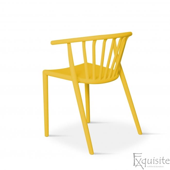 Scaun galben pentru terasa, rezistent, Countryside, EX0964