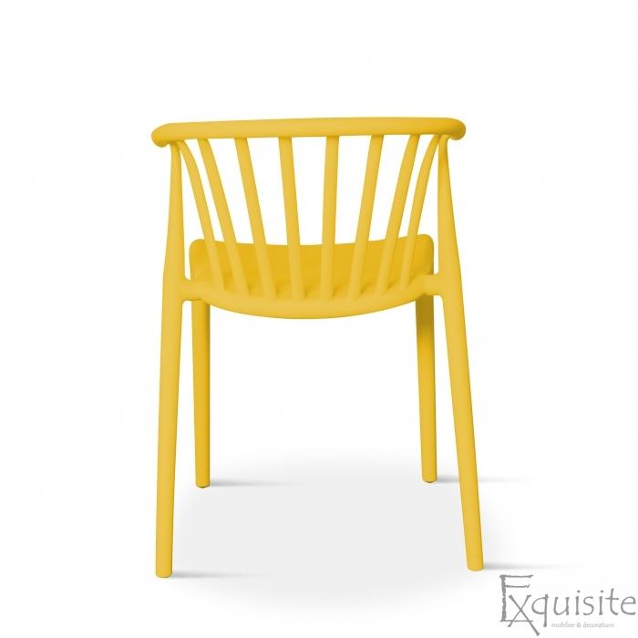 Scaun galben pentru terasa, rezistent, Countryside, EX0965