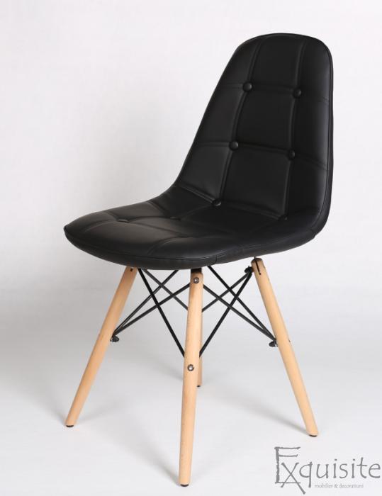 Scaun tapitat alb cu piele ecologica - Set 2 scaune4