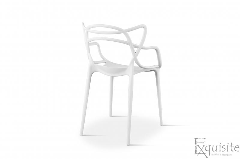 Scaun pentru terasa, alb, design Masters Set 4 Scaune, EX0915
