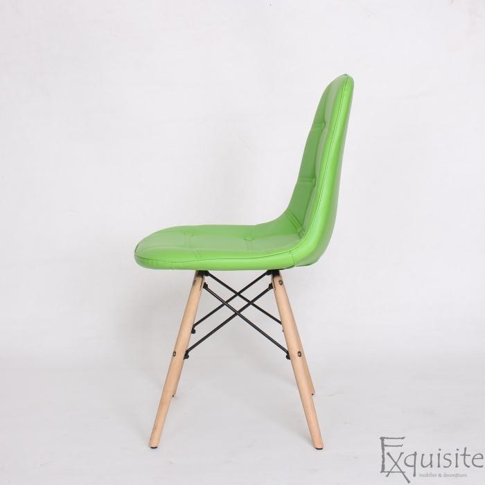 Scaun verde din piele artificiala, Set 2 bucati3