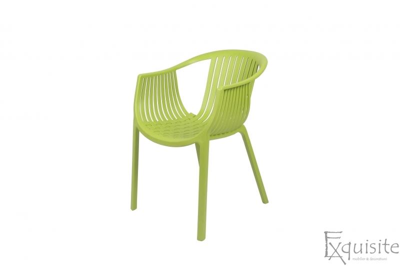 Scaun verde pentru exterior si interior, solid, model Luigi4