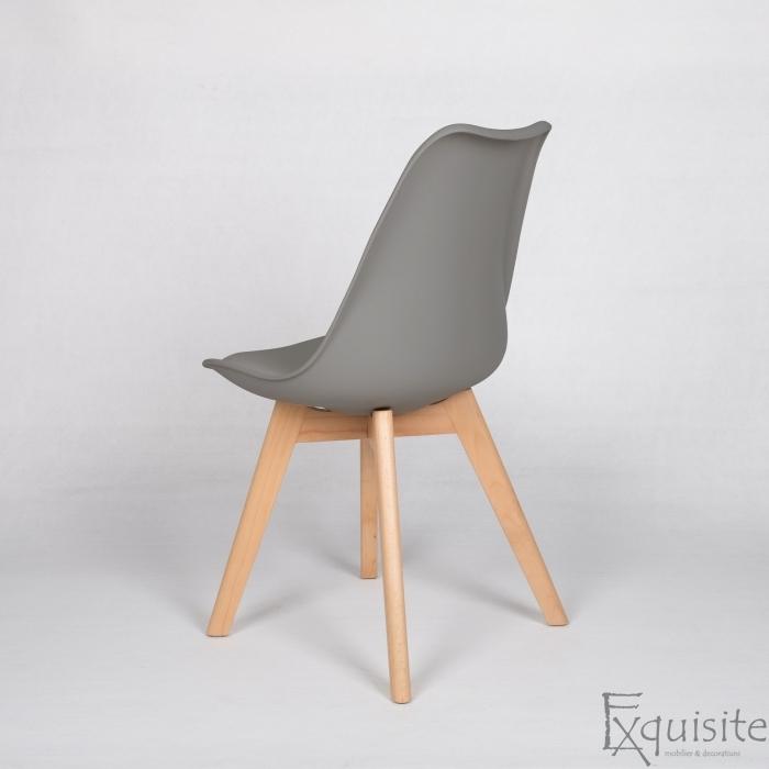 Scaune de bucatarie - set 4 bucati - tapitat cu piele ecologica, design Eames, colorate9