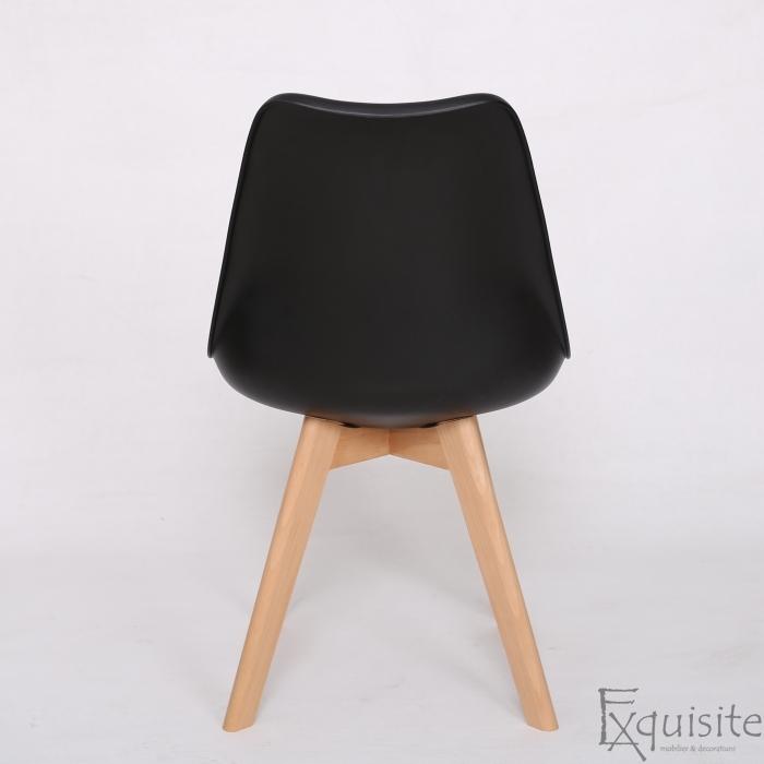 Scaune negre, sezut din piele ecologica, Set 4 scaune6