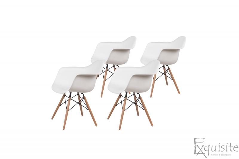 Scaune colorate de bucatarie, Set 4 scaune5