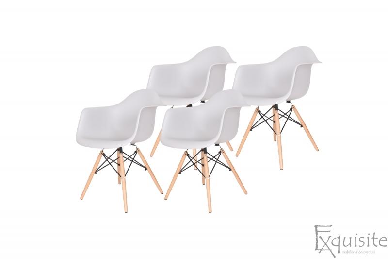 Scaune colorate de bucatarie, Set 4 scaune3