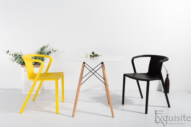 Scaun modern pentru terasa din plastic, Exquisite, diverse culori10