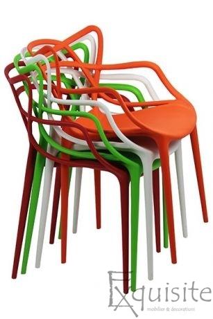 Scaune moderne de bucatarie din plastic - Set 4 Scaune - design Masters 11