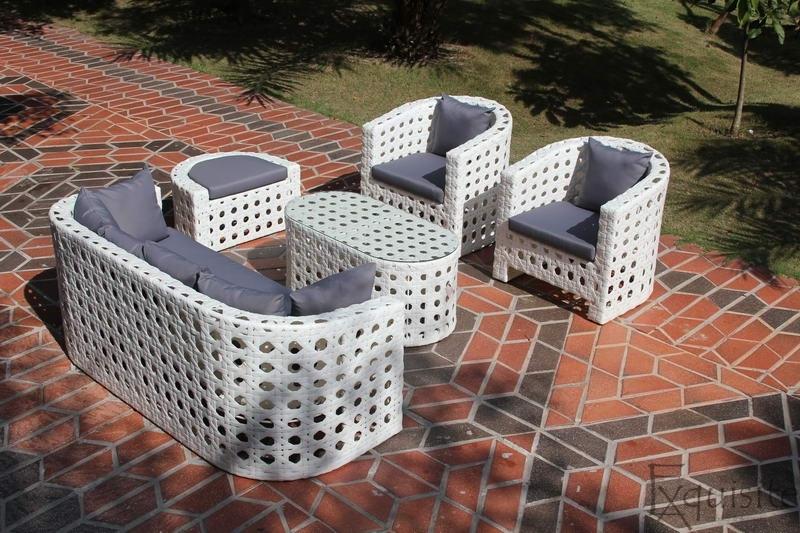 Canapea cu fotolii din ratan artificial 1