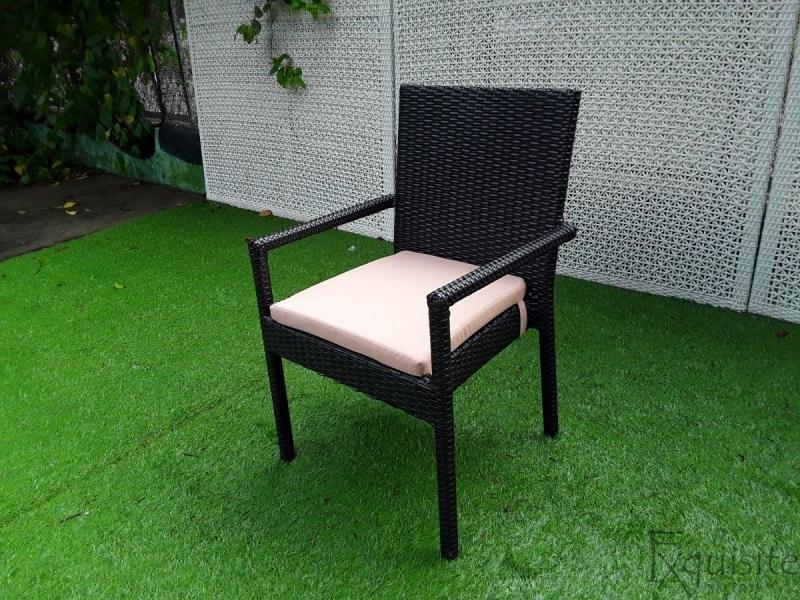 Masa cu sase scaune pentru gradina din ratan sintetic3