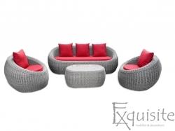 Canapea din ratan artificial