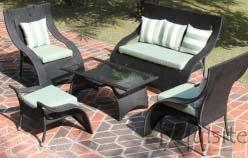 Canapea cu fotolii pentru gradina