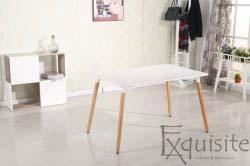 Masa de bucatarie, living MDF cu picioare din lemn, design Eames, EX1012
