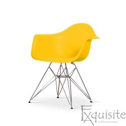 Scaun de bucatarie cu picioare cromate, set 4 bucati, diverse culori, EX082M
