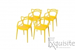 Scaun bucatarie, set 4 scaune, design Masters, galben