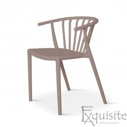 Scaun comod din plastic pentru terasa EX096