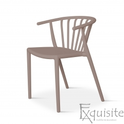 Scaun din plastic pentru terasa, stivuibil, Countryside, EX096