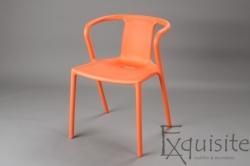 Scaun modern pentru terasa din plastic, Exquisite, diverse culori
