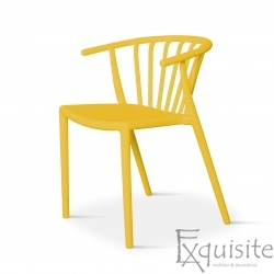 Scaun galben pentru terasa, rezistent, Countryside, EX096