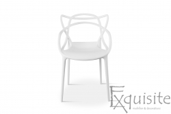 Scaun pentru terasa, alb, design Masters Set 4 Scaune, EX091