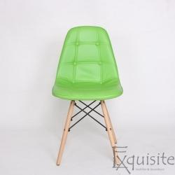 Scaun verde din piele artificiala, Set 2 bucati