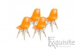 Scaune de bucatarie cu picioare din lemn - Set 4 scaune
