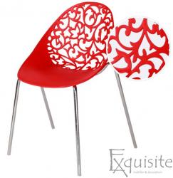Scaun din plastic cu model floral