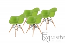 Scaune colorate de bucatarie, Set 4 scaune